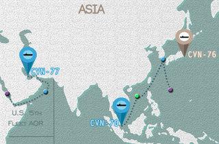 太平洋方面に存在する米空母