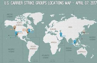 全世界の米空母の所在