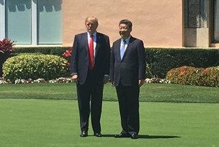 米中首脳会談の両首脳